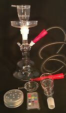All Glass Led Hookah With Case Free Shipping