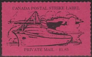 Canada Cinderella: cc5160 Canada Postal Strike 1981 - $1.85 magenta MNH - dw817i