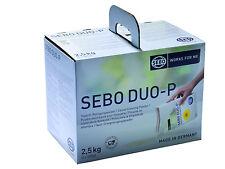 Sebo Duo-P 2,5kg Tappeto POLVERE PULIZIA 5x 500 gr. PER ca.50-100qm gp1000g