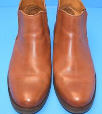 STEPHAN BOSSI BRAZIL HAND MADE  MEN'S TAN LEATHER PULL-ON ANKLE BOOTS SIZE 10.5