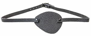 Leather Black Pirate Eye Patch Halloween Costume Party Cosplay Fancy Buckle Back