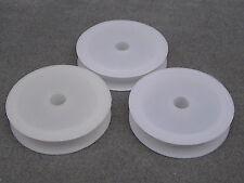 5 Bianco vuoto in plastica bobine, per decorazione di perline Filo, Filo, stringa, nastro. (box11)