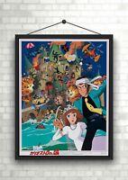 Rupan Sansei Anime Classic Large Movie Poster Art Print A0 A1 A2 A3 A4 Maxi
