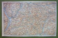 ITALY Piedmont Merano Bolazno Belluno & Environs - 1911 MAP ORIGINAL Baedeker