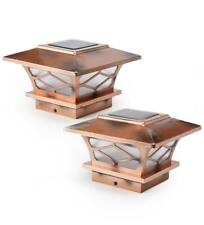 New listing Classic Mission Style Solar Light Post Caps, Set of 4 - Copper