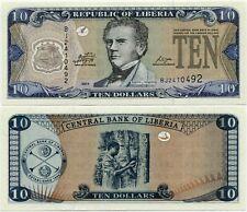 Liberia 10 Dollars 2011 UNC