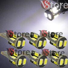 6 Lampade LED T10 10-SMD 5630 Can-Bus BIANCO Posizione Luce Targa 360° Luminosi
