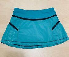Lululemon Pleated  Skirt Size 4 Shorks , Tennis Skirt Running  Green EUC