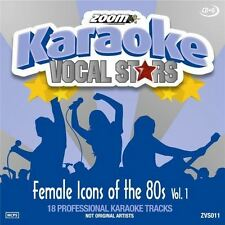Zoom Karaoke Vocal Stars Female Icons Of The 80s Volume 1 CD + G New Sealed