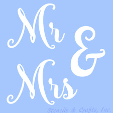 MR & MRS STENCIL WORD WORDS STENCILS TEMPLATE TEMPLATES ART CRAFT PAINT NEW