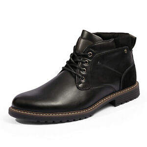 Bruno Marc Men's Chukka Dress Boots Casual Lace up Plain Toe Durable TPR Shoes