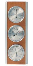 Hokco Weather Station Barometer Thermometer Hygrometer Aluminum Cherry Finish