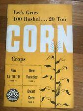 Vtg Let's Grow 100 Bushel Corn Farmers Exchange Agriculture 1950s Booklet A41