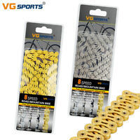 VG 8 Speed Silver Gold Bicycle Half Full Hollow Chain 116 links fit Shimano Sram