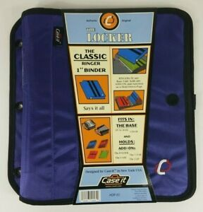 NEW Case It The Locker purple classic 1 inch 3 ring binder insert for the Base