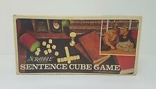 Vintage 1971 Scrabble Brand Sentence Cube Game BySelchow & Righter Complete Mint