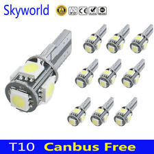 10 X Canbus Error Free White T10 5-SMD 5050 LED Interior Light Bulbs W5W 194 168