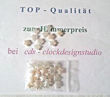 50 Acryl Perlen 14x13mm Stern Bunt Basteln Acrylperlen transparent 2700