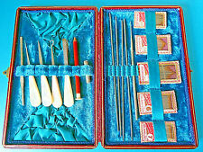 ANTIQUE SEWING KIT,STILETTO,BUTTON,CROCHET HOOK,KNIT PINSS,NEEDLES  etc etc.,