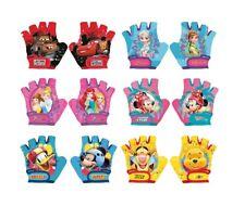 Genuine Disney Kids Bike Cycle Gloves Half Finger Minnie Frozen Winnie 4-6Years