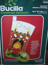 Bucilla GREAT EXPECTATIONS Felt Christmas Stocking Kit Vintage Child Sterilized