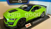 Maisto 1:18 Scale - Ford Mustang Shelby GT500 - Green - Diecast Model Car
