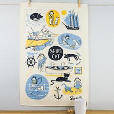 NEW SeaSalt la casa della Cornovaglia Ship's Cat Cotone Asciugamani Carini Kitty NAUTICO