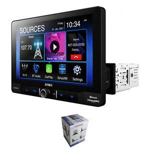 "Jensen 9"" Touchscreen BT 1 DIN Radio w/ Wireless Apple CarPlay & Android Auto"