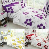 LUXURY MARIA FLORAL REVERSIBLE SOFT DUVET QUILT COVER BEDDING SET WITH PILLOW