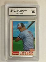 1982 Topps Traded Cal Ripken Jr. ROOKIE RC #98T RGA 10 GEM MINT