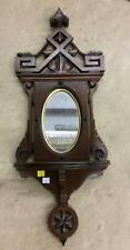 Carved Wall Mirror With Shelf Lot 2514