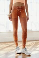 Free People Kyoto High-Rise Ankle Legging in Spiced Coral Size Large