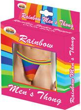 Sexy & Stylish Rainbow Mens Thong O/S
