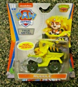 PAW PATROL DINO RESCUE RUBBLE OFF ROAD SUPER RARE CHASE DIE CAST VEHICLE