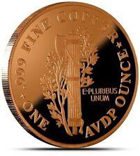 Mercury Dime 1 oz .999 Fine Copper Art Round BU – Elegant – Proof Like!