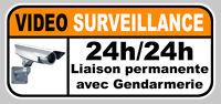 VIDEO SURVEILLANCE GENDARMERIE ALARME CAMERA SECURITE 12cm STICKER VA047