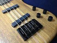 4/4 Haze Neck-thru 4-String Electric Bass Guitar Natural+Free Gig Bag. SPB-3213N