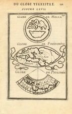 ANCIENT WORLD. Maps by Mela, Posidonius & Ptolemy. MALLET 1683 old antique