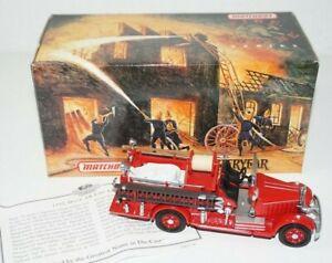 Matchbox Models of Yesteryear 1935 Mack AB Fire Engine Truck YFE15 COA