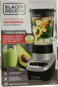Multi-Function 48oz. 4-Speed Black/Silver Blender with Glass Jar by BLACK+DECKER