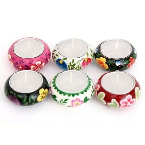 Temerity Jones London Mexican Floral Set of 6 Tea Light Holders with Tea Lights