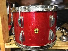 "1960's Ludwig 9x13"" Tom Drum-Red Sparkle Very Good Condition!"