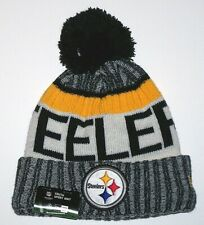 Nwt New Pittsburgh Steelers Hat Beanie Cap Roll Logo NFL Football Cuff Youth