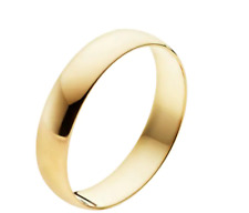 Women's 10k Yellow Gold Wedding 4mm Wide Band Ring, Tag Price $450