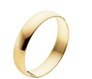 Men's 10k Yellow Gold Wedding 4mm Wide Band Ring, Tag Price $500