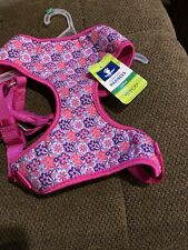 Top Paw Comfort Dog Harness Adjustable Large Pink W/ Flowers New!