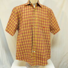 Twenty X Blue Red Yellow Plaid Men's Shirt Size L