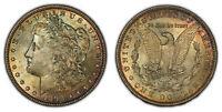 1898 $1 Morgan Silver Dollar - Original Thick Neon Toning - SKU-D1775