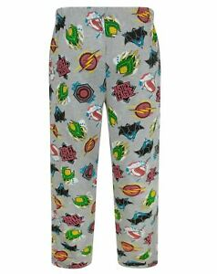 NEW MEN'S OFFICIAL DC JUSTICE LEAGUE LOUNGE PANTS PJ BOTTOMS SIZES SMALL to XL