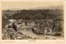Charnaux Frères, Suisse, Vue de Berne et ses ponts, ca.1880, vintage albumen pri